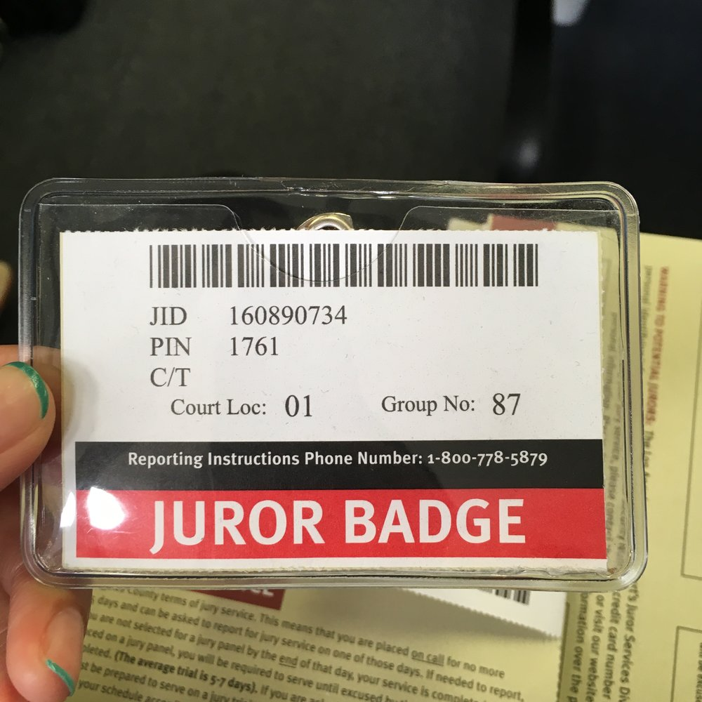 First time as a juror