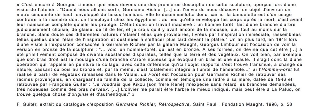 """""""Visite à un sculpteur"""",  Spectateur des arts , p. 487."""