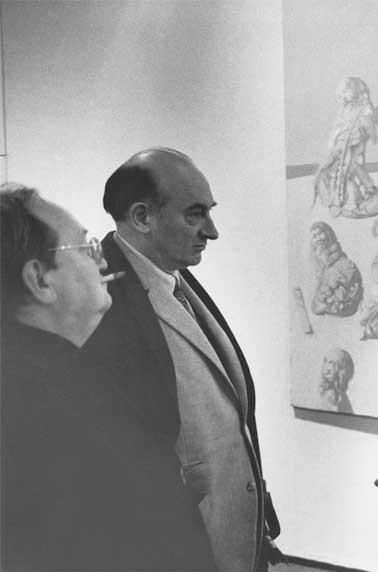 G. Picon, aux côtés de  François Mathey  (merci à C.Schvalberg qui a identifié celui-ci).