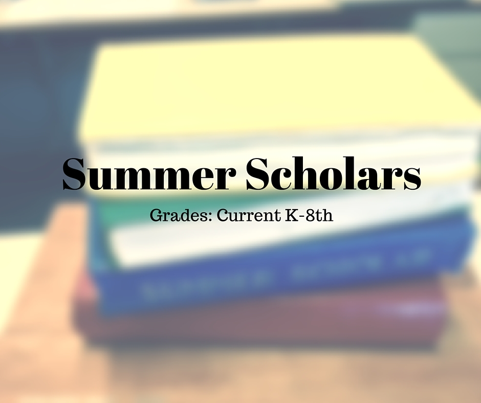 Click  here  for more information about Summer Scholars