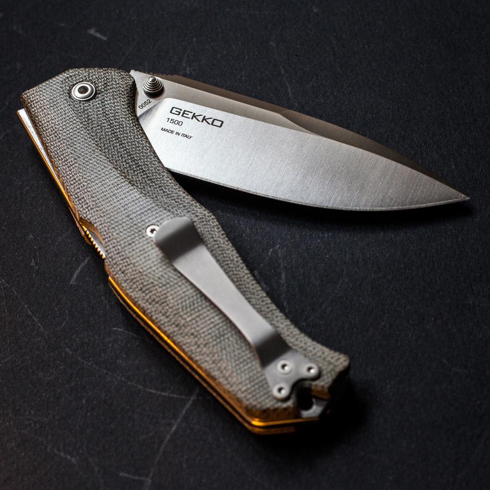 Knife Pivot : Steel will gekko review — pivot tang