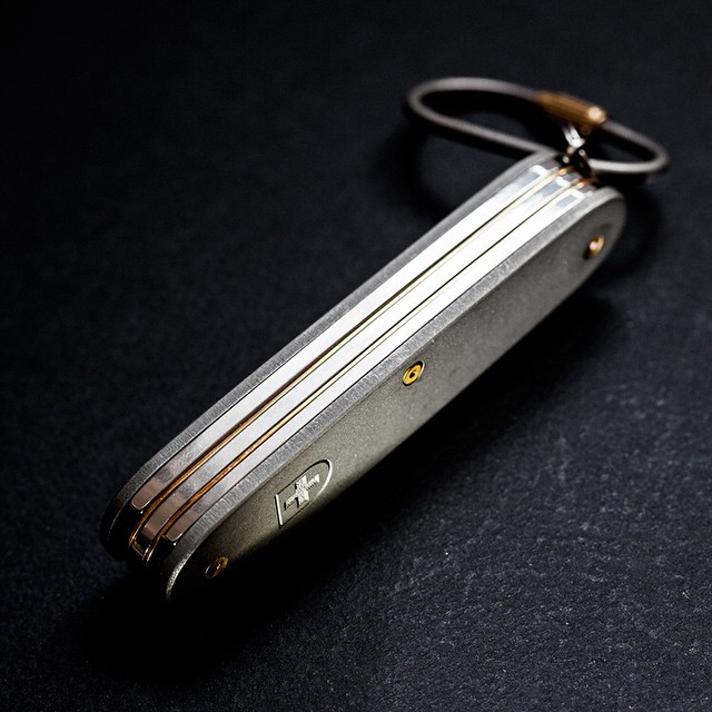 New Pivot review of ALM's titanium mod of the Victorinox Pioneer #SAK http://www.pivotandtang.com/#/victorinox-alm-pioneer/ #knifereviews #knifenut #usn