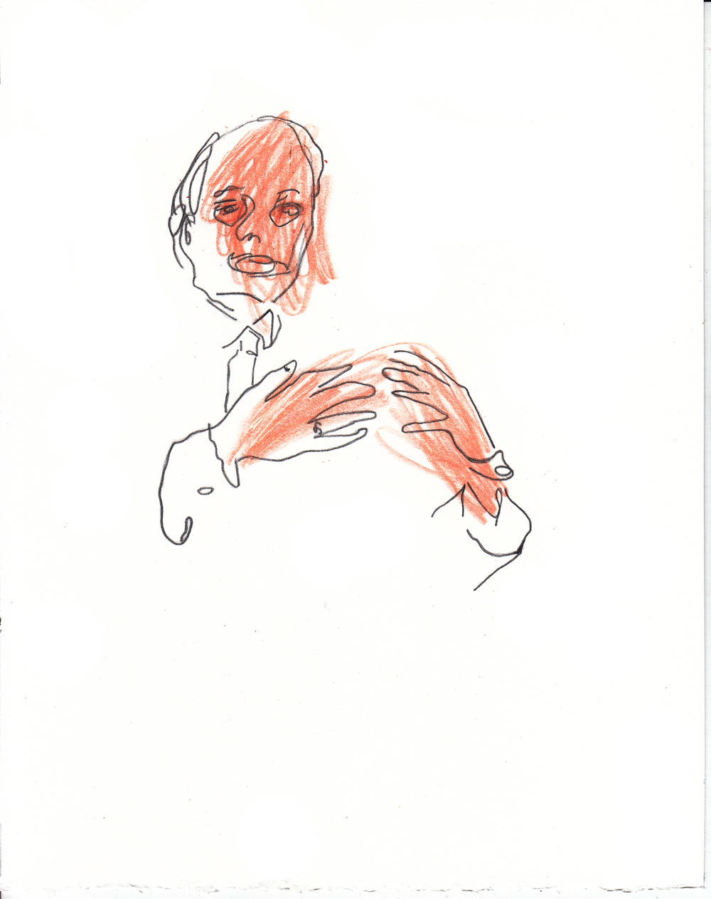 Pay careful attention to the face and hands,  AmCor DDTP training illustrations, (drawing exhibition images)