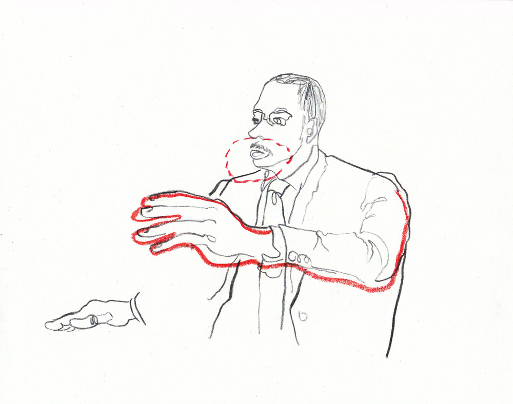 Size of the hand in relation to the mouth,  AmCor DDTP training illustrations, (drawing exhibition images)