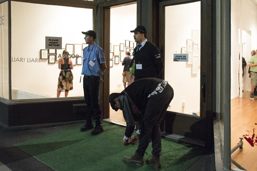 Entry,  Liar! Liar! , AmCor DDTP training exhibition at  Stride Gallery , Calgary, 2015.  www.amcorinc.net
