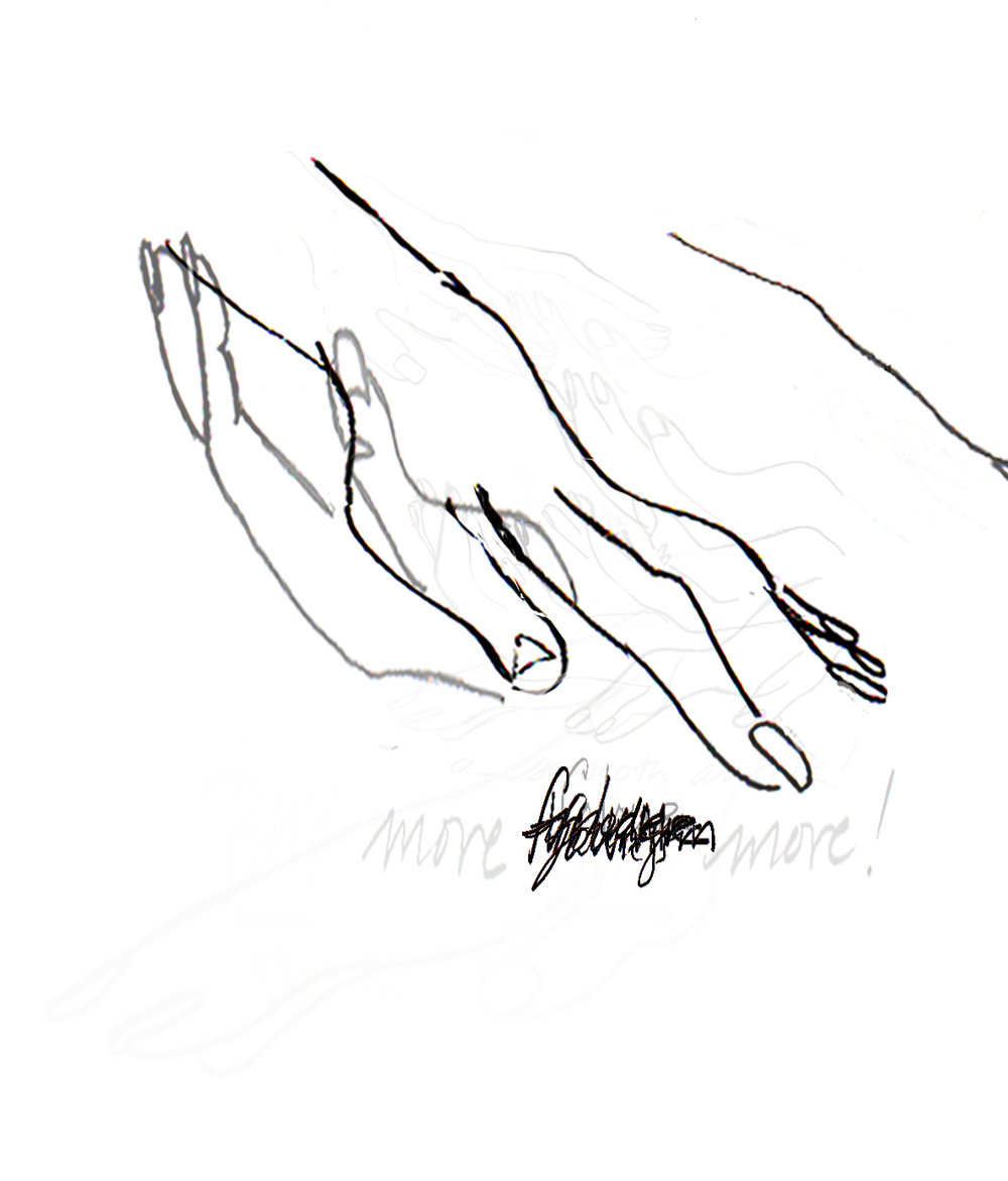 Hands that sell. Animation for Not Sent Letters at VIVO media arts, Vancouver, 2015