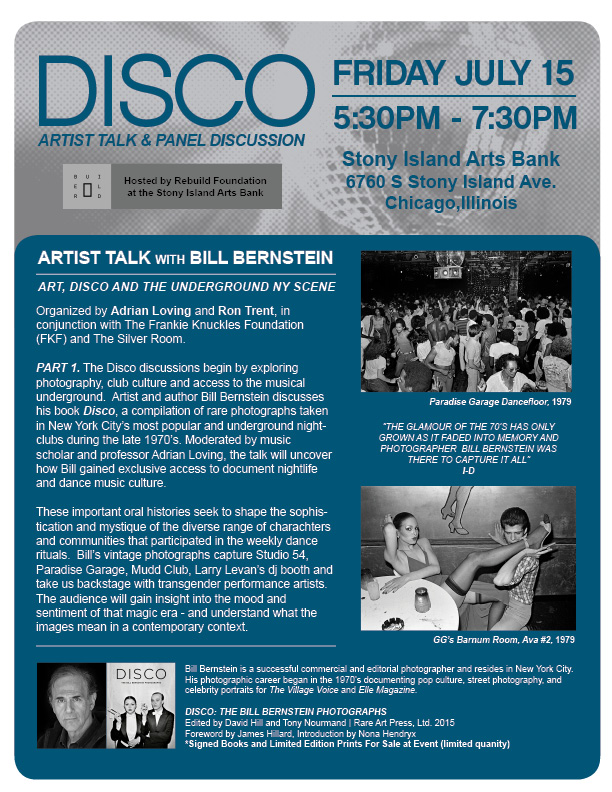 PANEL DISCUSSION ON DISCO: CHICAGO > JULY 2016 — ADRIAN LOVING