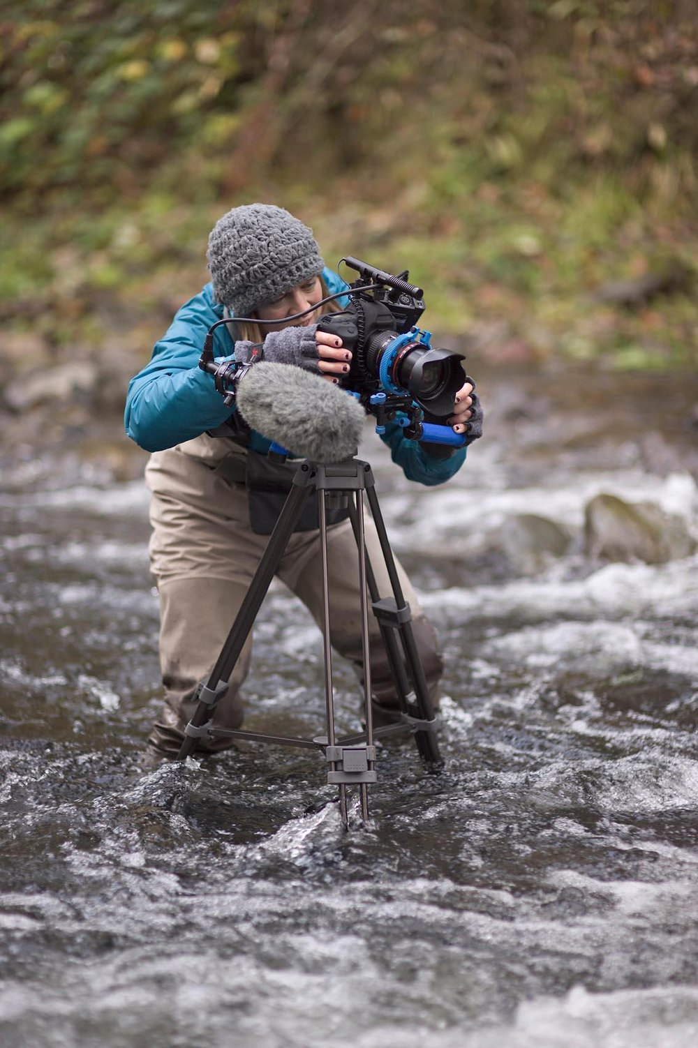 sarah filming in creek.jpg
