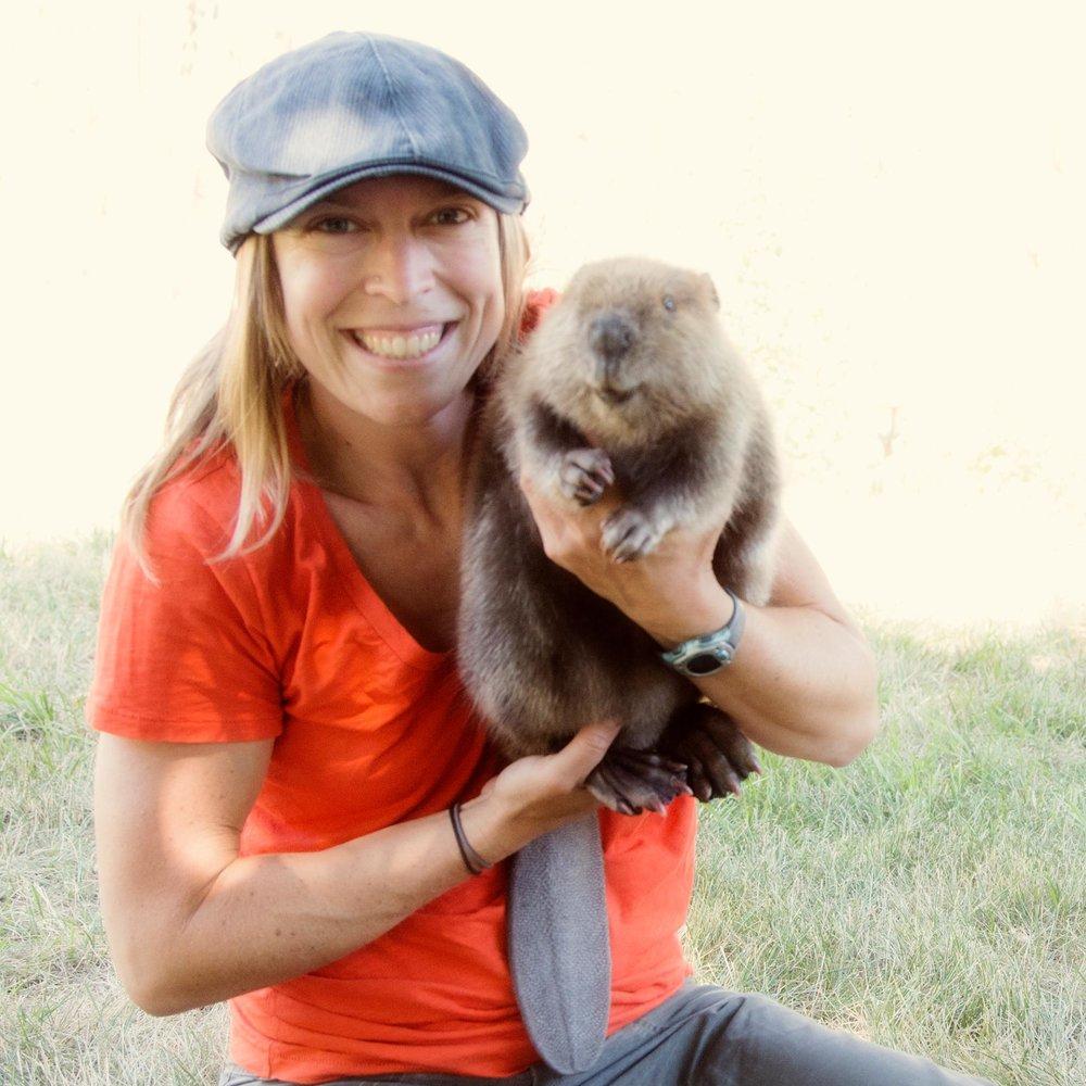 Sarah holding beaver.jpg