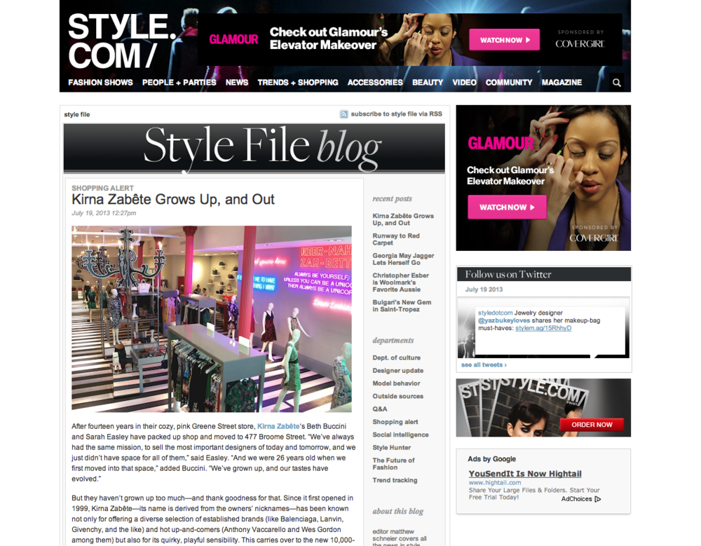 Style.com: Store Image