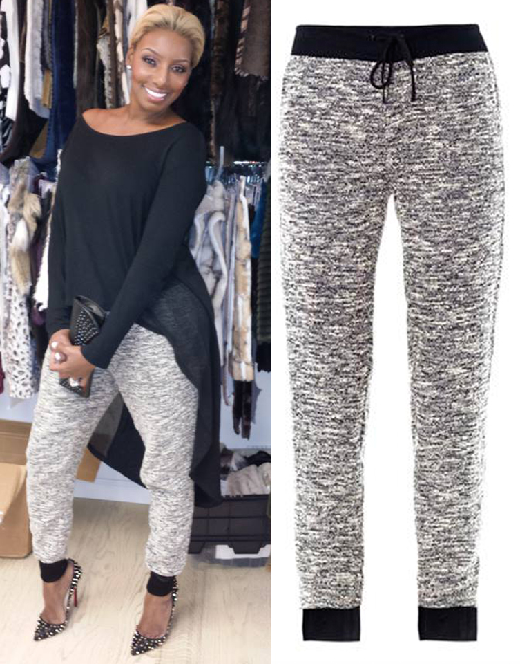 Absolutely loving these Rag and Bone sweats worn by Nene Leakes. At $350, they definitely make you think there is a price to comfort, but I must say they are amazing.
