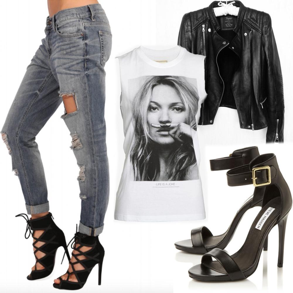 Top: Paris Eleven Exclusive for Intermix Leather Jacket: Zara