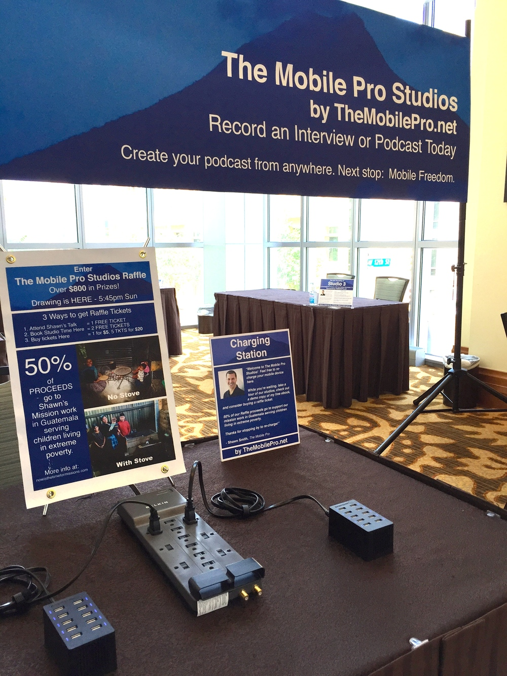 The Mobile Pro Studios - Charging Station & Raffle
