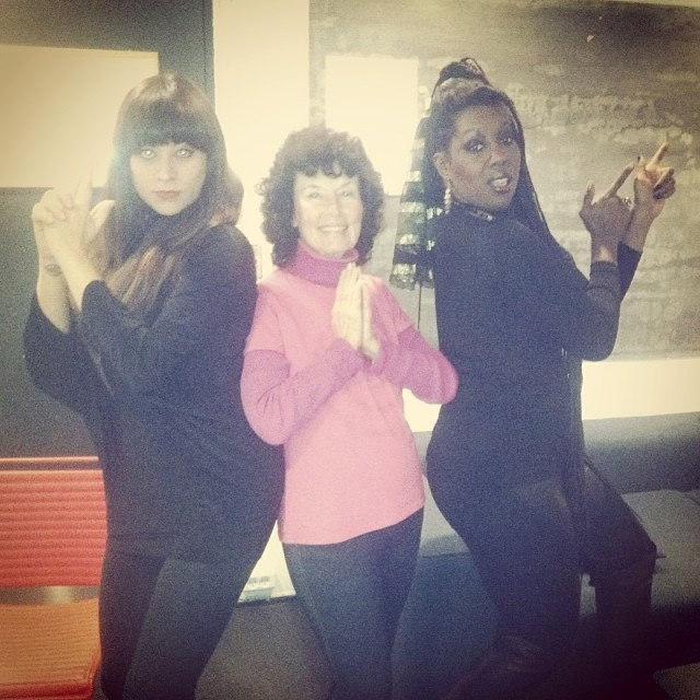 Linda with her singers, Michelle Vidal & Durga McBroom-Hudson after the show at   VoxHall in Aarhus, Denmark.