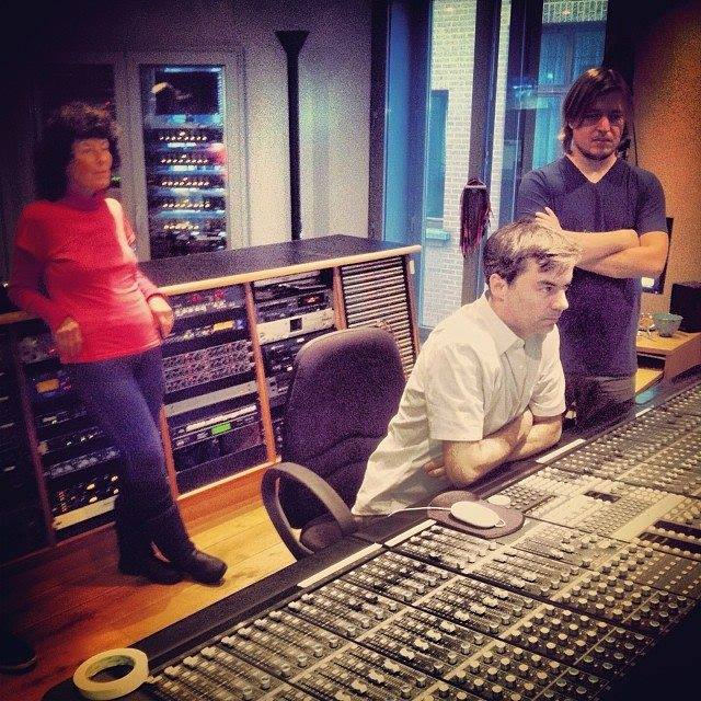 Mixing the audio for AB sessions in Brussels.