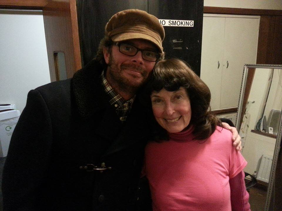 Linda and her opener, Graham Marshall together in London.