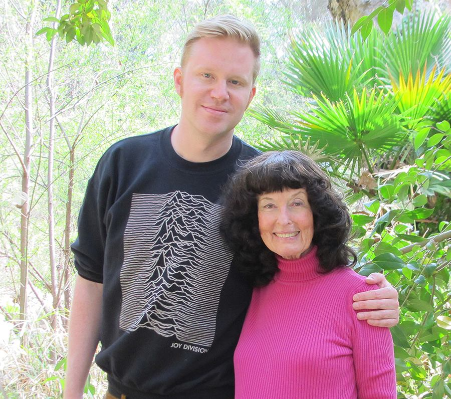 Me and Swedish Songwriter/Journalist  Erik Augstin Palm in Topanga Canyon 2017