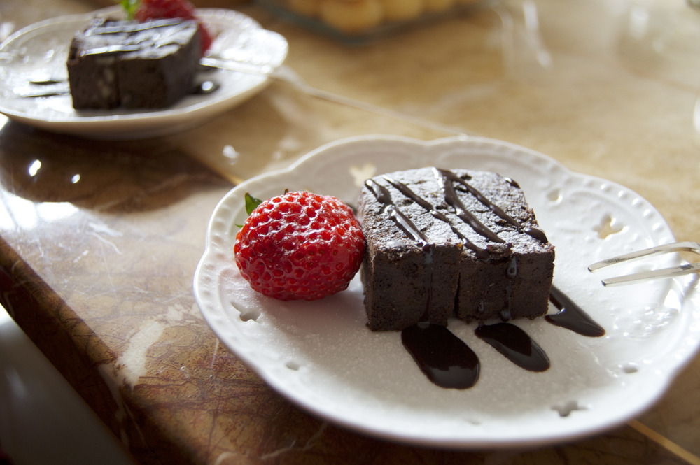 Delicious brownies.