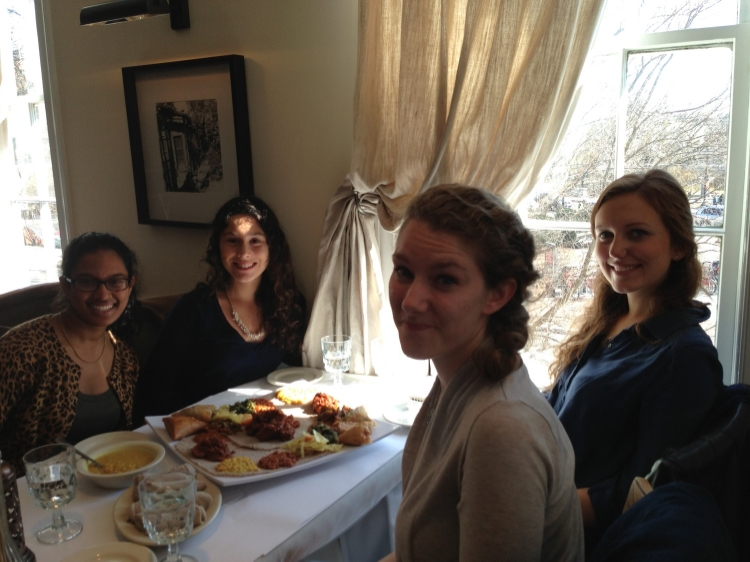Students in the course dining at Das Ethiopian. Photos courtesy of Johanna Mendelson Forman.