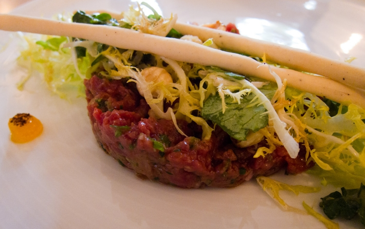 Wallaby Tartare from  Charcoal Lane . Photo by  Charles Haynes .