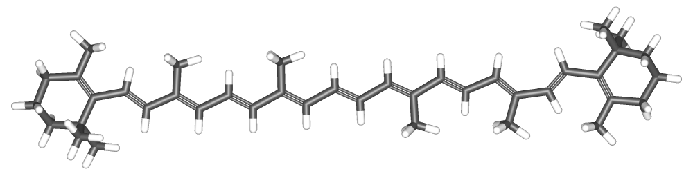 "Image source ""BetaCarotene-3d"" by Sbrools - Own work. Licensed under CC BY-SA 3.0 via  Wikimedia Commons ."