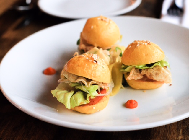 Amanda Cohen's carrot sliders, which will appear on tonight's special menu