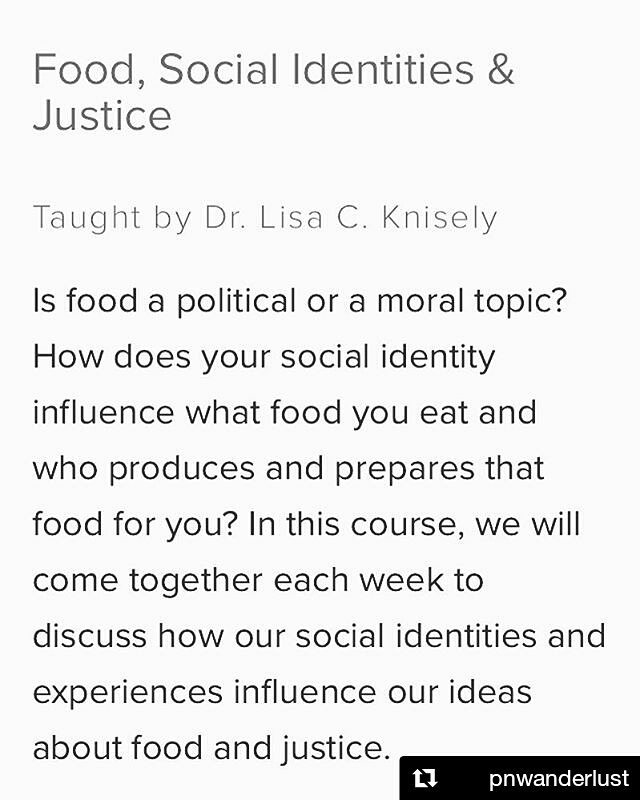 Hey Portland people! Our friend and former Editor-in-Chief, Dr. Lisa Knisely, is teaching a Food, Social Identities & Justice class with Portland Underground Graduate School! Head over to the @pugspdx website to register! #nourish #foodjustice #socialjustice