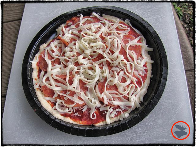 Papa Murphy's Mini Murphy pizzas fit perfectly in Dutch ovens.