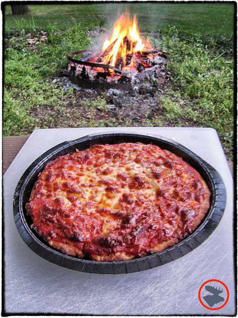 Dutch oven pizza cooking