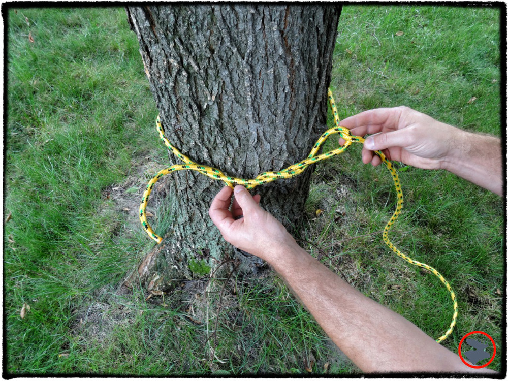 Step 3: Make 4-5 loops around the rope, spacing each loop about 1-2 inches apart.