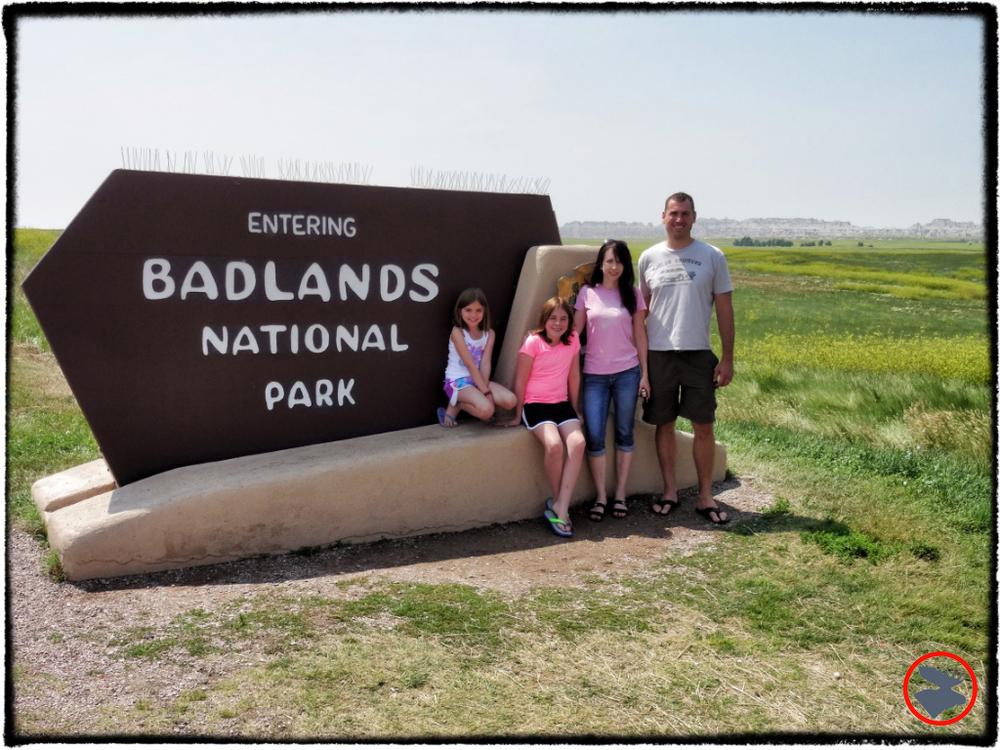 Entering Badlands National Park in South Dakota