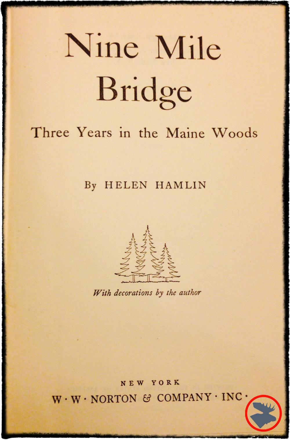 My copy of Nine Mile Bridge.