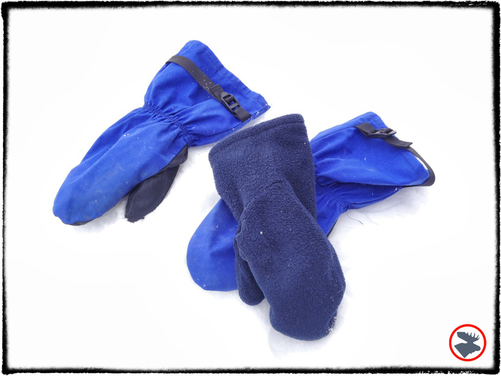 Gore-Tex mittens with fleece liners.