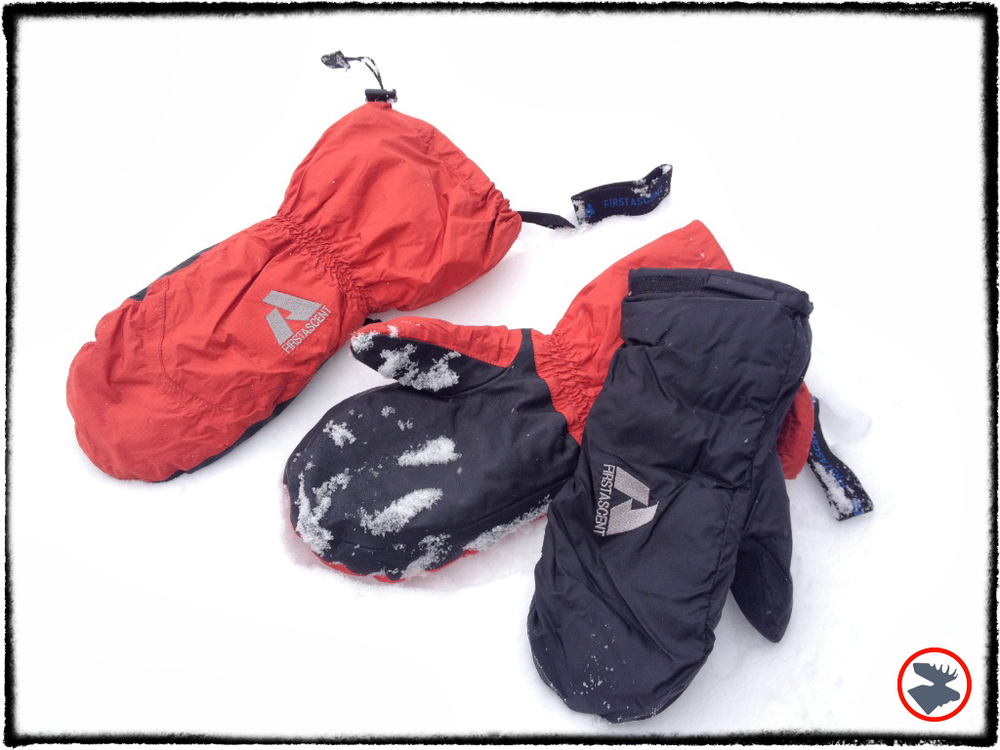 Eddie Bauer's Down & Primaloft Expedition mittens.