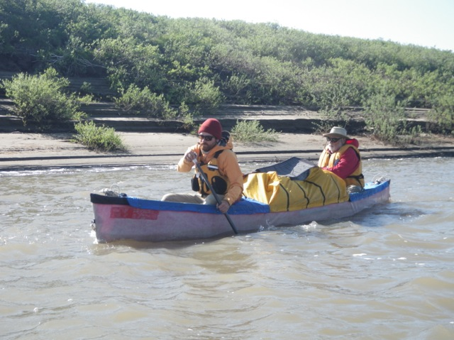 Bob canoeing the Colville River with Nate Ptacek.  Photo courtesy of Bob O'Hara
