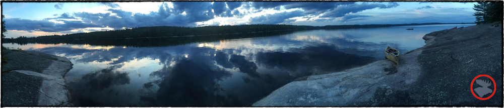 Our view while camping on Batchewaung Lake in the Quetico.