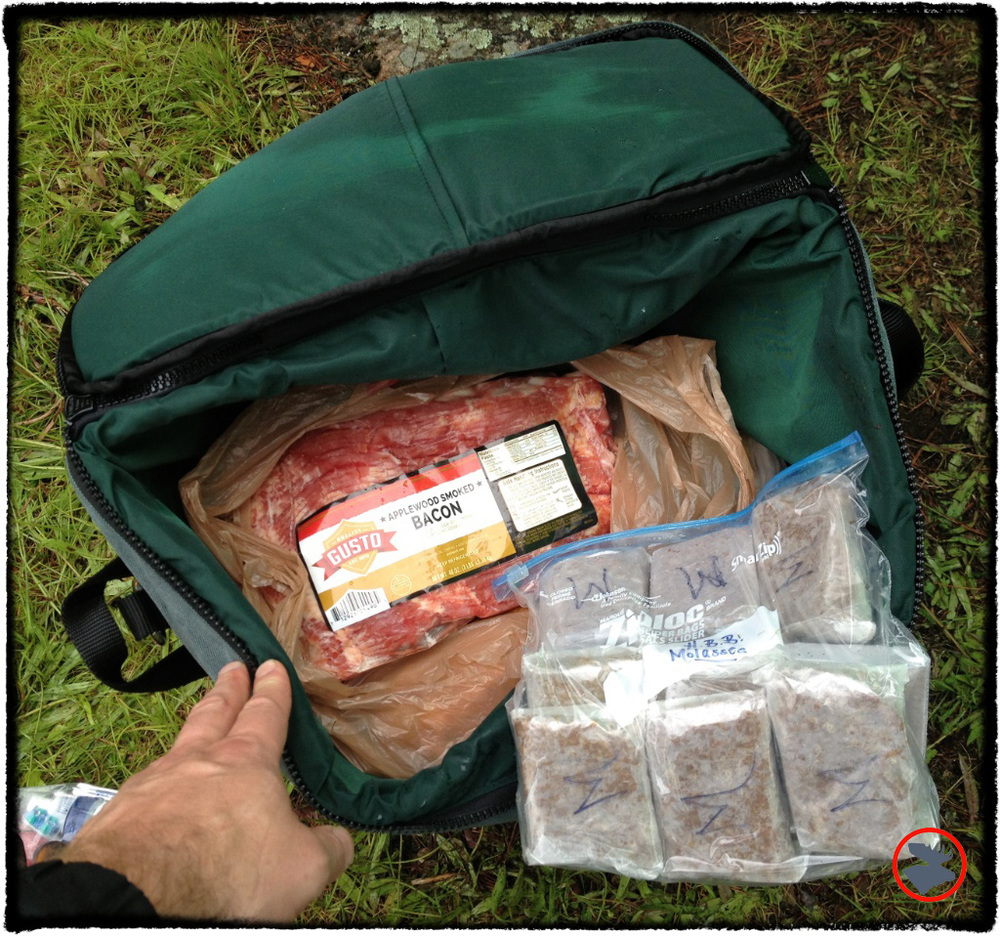 My Kondos Outdoors insulated food pack kept our food cold and was comfortable to carry.
