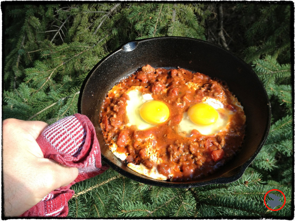 Eggs François: A simple, yet delicious, campfire cooking recipe designed to wake you up in the morning!