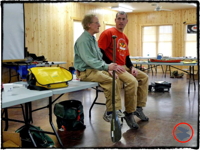 Cliff Jacobson teaching skills for a successful BWCA canoeing adventure.
