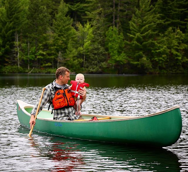 Scott taking our junior BMP'r on his first canoe ride in the Boundary Waters. Nine-months-old and already hooked.