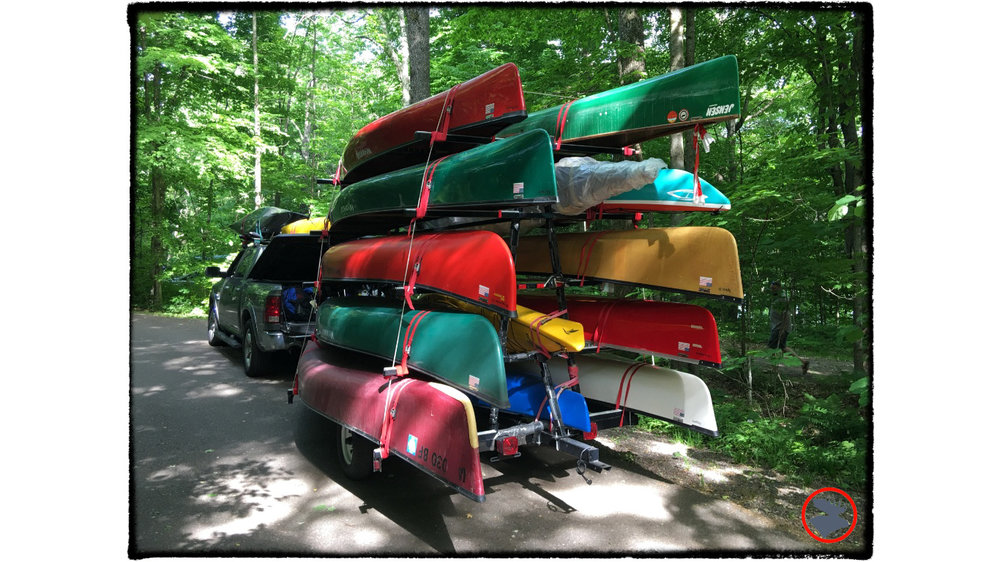 Wenonah  canoes ready to tackle the Flambeau River.