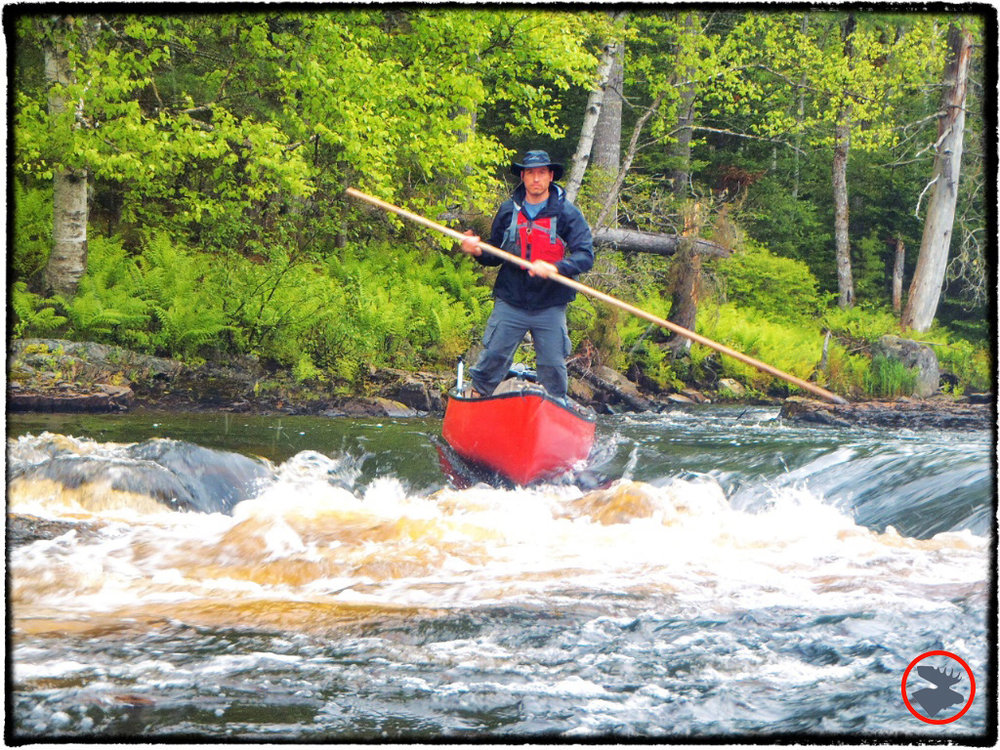 One of my trips  to Maine included poling the Machias River!