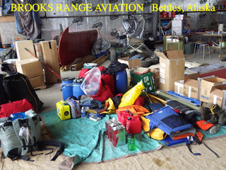 Packing and shipping gear in advance for the Noatak River trip.  Photo courtesy of Bob O'Hara.