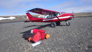 At the Colville headwaters, using a Cessna 206 for two paddlers and gear.  Photo courtesy of Bob O'Hara.
