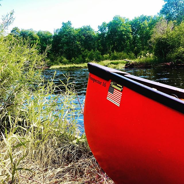 Happy Independence Day, America!  A riverside break on the banks of the Namekagon River—a wild, free, and beautiful national treasure! . . . #🇺🇸 #ilovemycountry #july4th #americathebeautiful #homeofthefreebecauseofthebrave #NamekagonRiver #Wisconsin #canoecamping #wenonah #wenonahcanoe #prospector #tformex #seeyououtthere #getoutside