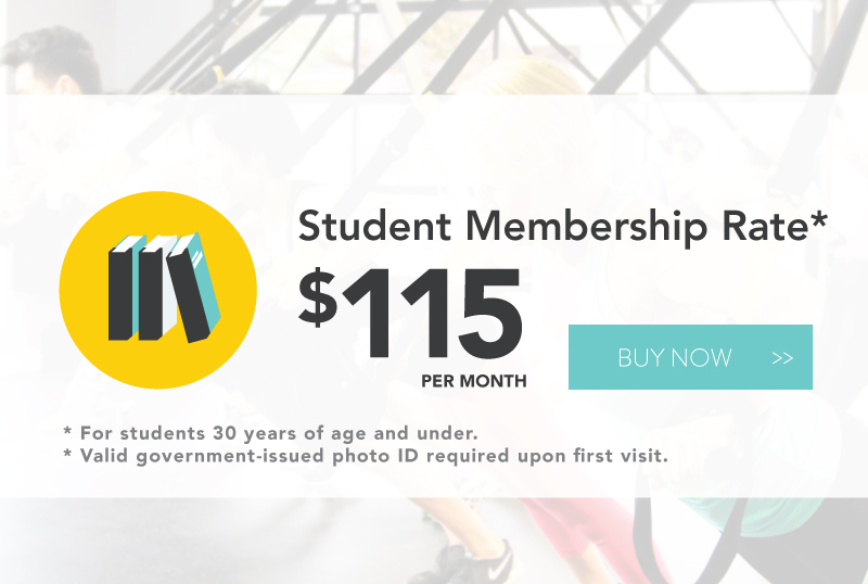 Our month to month student membership is subject to a 3 month minimum. Activates upon purchase. Cancellation available at any time. One month notice required via cancellation form, which translates into one additional monthly payment. If you choose to cancel immediately, you can do so for a $50 fee plus tax. Payments will be charged to a credit card on an automatic monthly basis in perpetuity, until notice is provided via email.