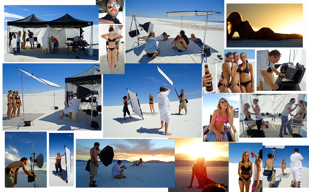 White Sands New Mexico, Swimwear Shoot.  Assistants:  Sarah Roer and Bryan Jones