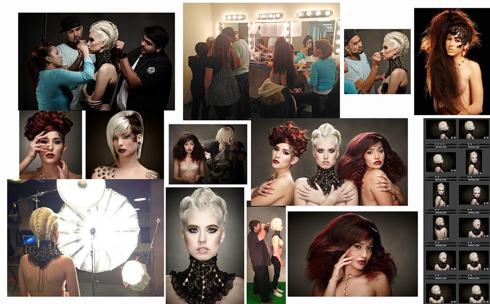 Zink Magazine shoot Models: Stacia & Kendall, MTM Model Management. Makeup, Ramiro Cardenas.  Hair, Ignacio Ortega.  Assisted by Jess Bartow.
