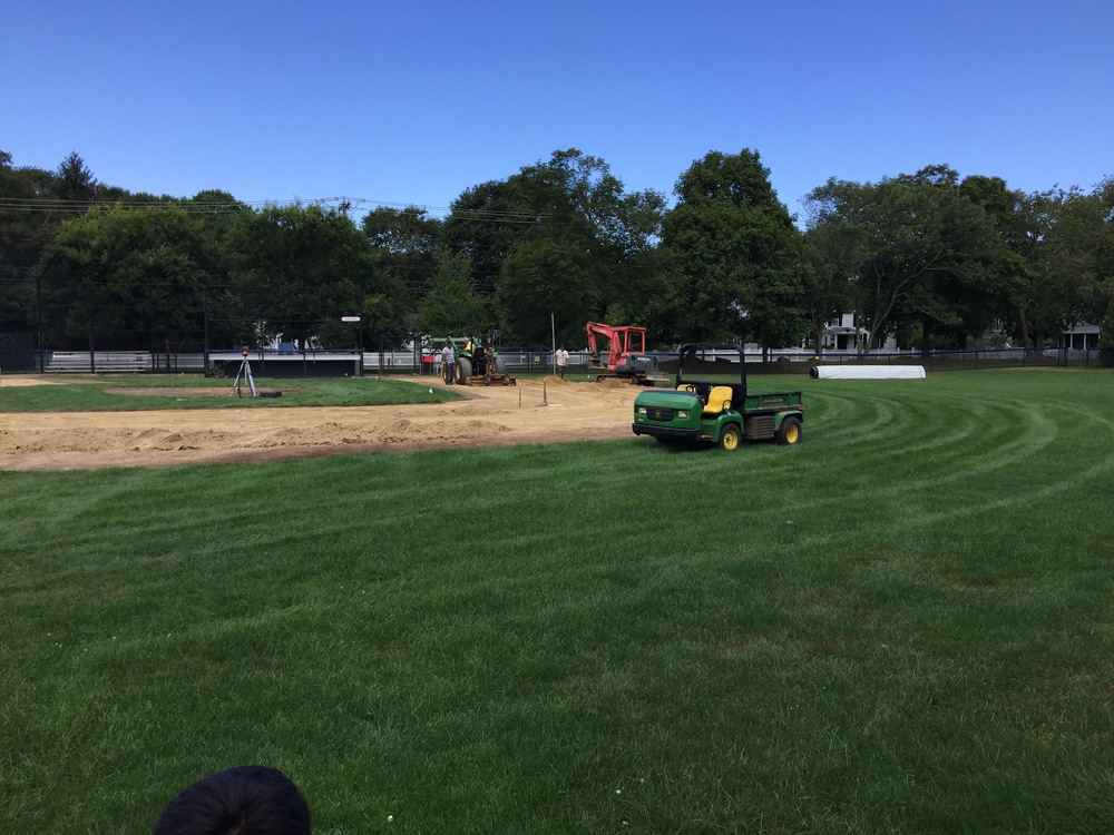 Work underway at Barnes Field