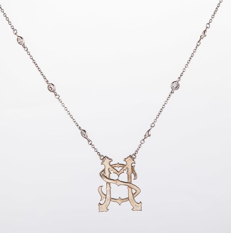Monogram Necklace Cimelio Jewelry